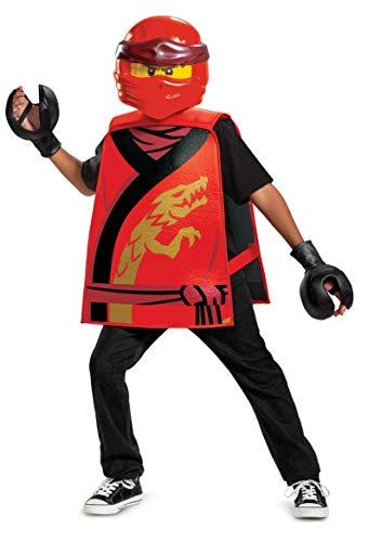 Disguise 100379 Kai Ninjago - Disfraz para nios, color rojo, talla nica