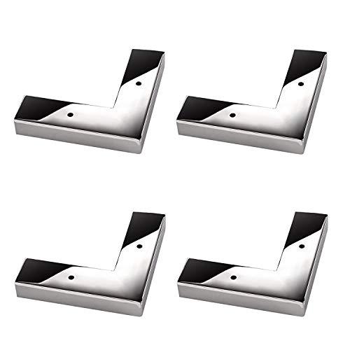 4 Stück Möbelfuß India I Sofafuß Schrankfuß/Chrom poliert / 140 x 140 x 25 mm von SO-TECH