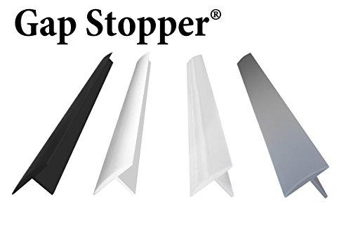 Original Gap Stopper Black, Professional Grade, FDA Heavy 7.2 oz Silicone, Set of 2, Covers Gap between Stove & Countertop, Black