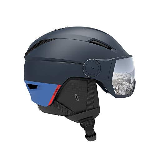 SALOMON Helmet Pioneer Visor Accesorios de Casco, Hombres, Dress Blue (Azul), M...