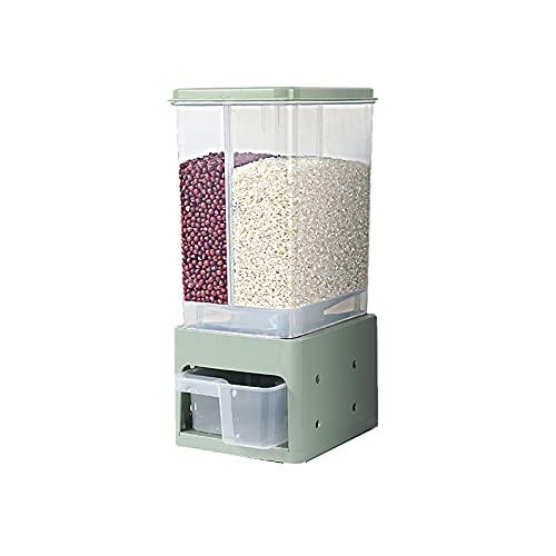 ZQYYUNDING Contenitore di stoccaggio Alimentare, Secchio di Riso a Prova di umidità della Famiglia Secchio di immagazzinaggio di plastica Classificazione sigillata Can Dry Food Dispenser 2- Grid Disp