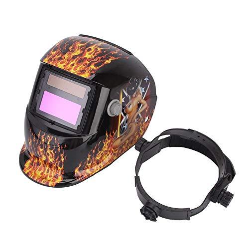 Cikonielf Schweißhelm, Schutzmaske für Schweißgerät mit automatischer Solarenergie, UV- und IR-Schutz, für Schiffbau, Petroleum, Architektur, Stahl
