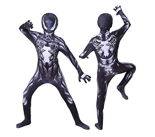 Leezeshaw Disfraz de superhroe Venom unisex para adultos, disfraz de veneno de lycra y elastano, disfraz de Halloween