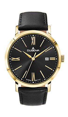Dugena Trend Line Sirius Armbanduhr, Ø 37mm, gold/schwarz