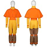 LOADREAM Avatar Aang Costume Kids Boy Halloween Cosplay Costumes Kuzon Outfit Set Gifts (Aang Costume for Kids, 2XL)