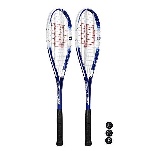 Wilson Impact Pro 500 - Raqueta de squash (2 + 3 pelotas de squash 🔥