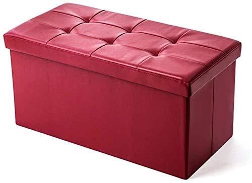 tgbnh GR-XMD Banco di legno, scatola di immagazzinaggio Pieded POffee Box Sgabello da sgabello ottomano Uso soggiorno camera da letto per risparmiare spazio 38x38x76cm, sgabello divano (colore, beige)