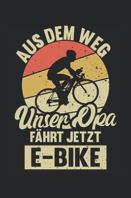 E-Bike Opa Notizbuch (liniert) Radfahrer Elektro Fahrrad