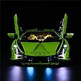 Juego de iluminación led para Lego 42115 Lamborghini Sián FKP 37, Kit de Luces LED Compatible con Lego Lamborghini Sián FKP 37 42115 (Solo Juego de Luces)