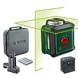 Bosch UniversalLevel 360 Flexi Set - Nivel láser (láser verde, alcance: hasta 24m, precisión: ± 0.4mm/m, con auto nivelación: hasta ± 4°, pinza universal MM 3, en maletín blando)