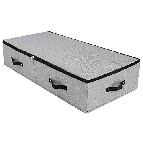 iwill CREATE PRO Große, robuste Unterbett-Aufbewahrungsbox mit Reißverschluss Deckel, starre, robuste Kunststoffplatte innen, Griffe an Allen Seiten, Dunkelgrau