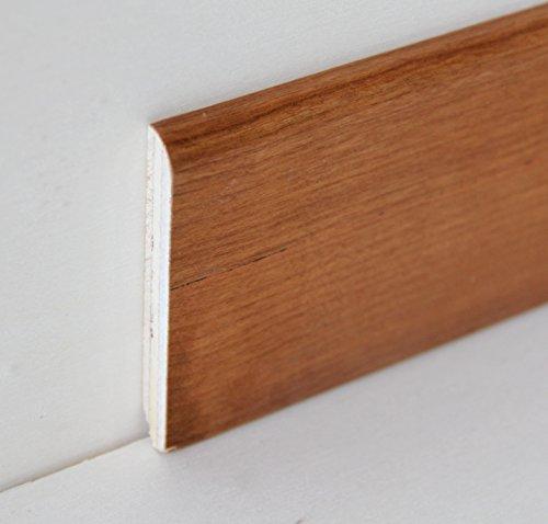 Hobby Legno - Battiscopa Rivestito In Legno Di Ciliegio Verniciato Naturale mm. 75X10X2400 (Prezzo Per ml. 4, 80)