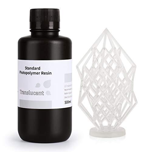 ELEGOO LCD UV 405nm 3D Resina Rápida para LCD Impresora 3D 500g Fotopolímero Resina Translúcido