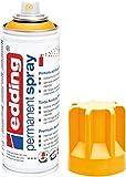 edding 5200-906 - Spray de pintura acrílica de 200 ml, secado rápido sin burbujas, color amarillo sol mate RAL 1037