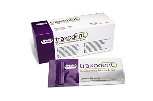 Premier 9007093 Traxodent Hemodent Paste Retraction System Starter Pack, Includes 7 Syringes and 15 Tips