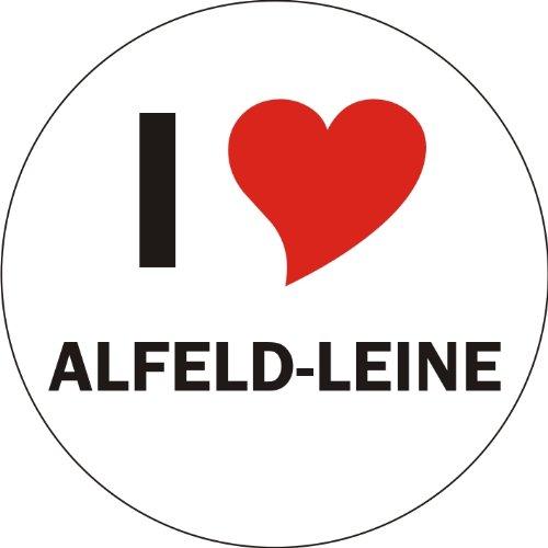 I Love ALFELD-LEINE Laptopaufkleber Laptopskin 210x210 mm rund