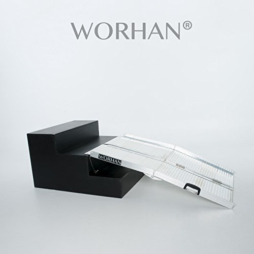 WORHAN 1.22m Rampe Alu Pliable Valise Aluminium Pour Fauteuil Roulant Chargement Scooter Plate-Forme NEUF R4