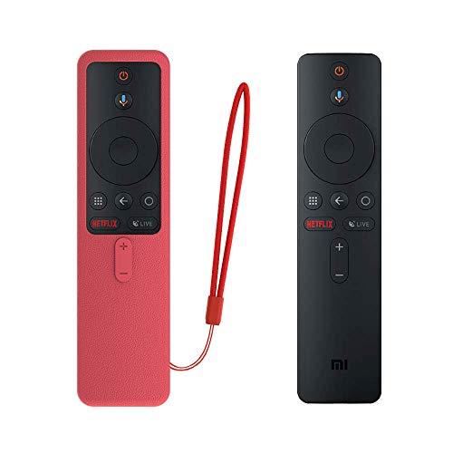 SIKAI CASE Ajusta Proteger el Mando Compatible con Xiaomi TV Box S/Xiaomi Mi TV Stick Control Remoto, Funda de Silicona Resistente a Golpes, Arañazos Shockproof Adapta,Protege de Caidas (Rojo)