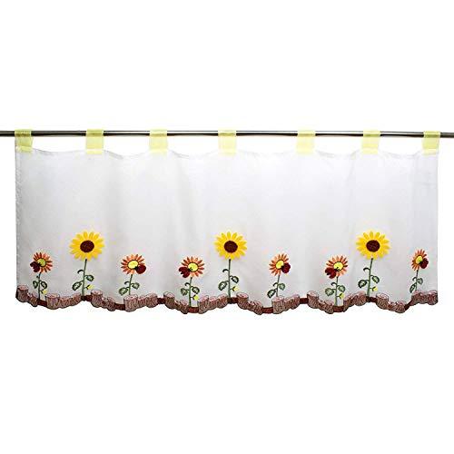 cortinas de cocina girasoles