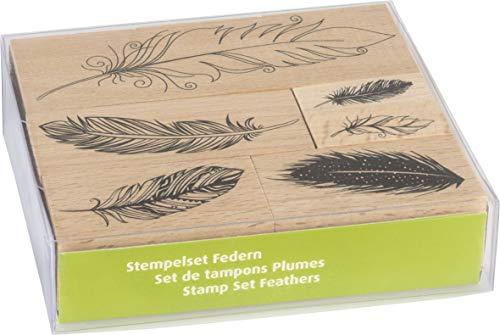 """Heyda 204888685 Stempel-Set """"Federn"""" Setgröße 12 x 10 x 3 cm"""