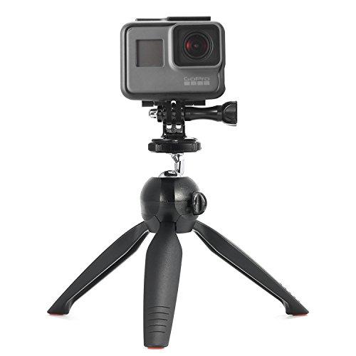 Luxebell Camera Tripod Mount 360 Rotatable Mini Steady Self-Tripod for GoPro Hero 6 5 Session 4 Black Silver Hero+ LCD 3+ 3 2 1