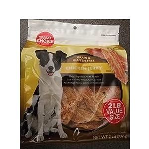 Grreat Choice Chewy Grain Free Chicken Jerky Dog Treats Large 32oz Bag