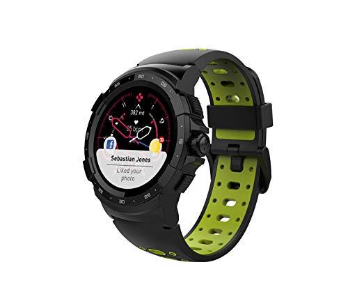 MyKronoz KRONOZ ZESPORT2 – Die Smartwatch GPS Multisport vereint Ihre täglichen Abenteuer – Schwarz Grau