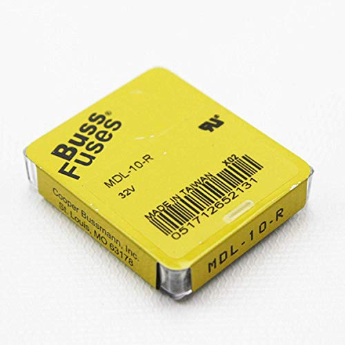 Bussmann BK/MDL-10-R circuito protección electronic-fuses tiempo de retardo 6,3x 32mm 32Vac 10A fusible de cartucho de vidrio–5tema (S)