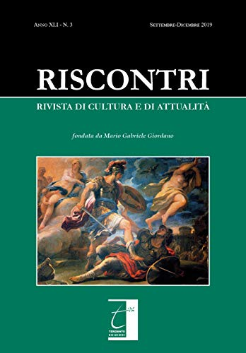 RISCONTRI. Rivista di cultura e di attualità: n. 3 (settembre-dicembre 2019)