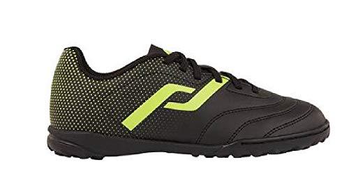 Pro Touch Classic III Turf, Zapatillas de fútbol Unisex niños, Negro Amarillo, 36 EU