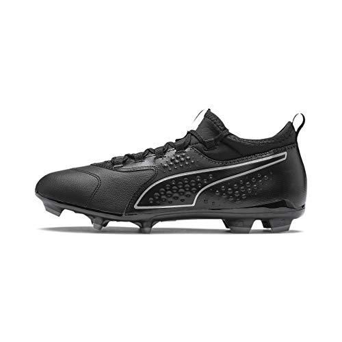 Puma Herren ONE 3 Leather FG Fußballschuhe, Schwarz Black Black Black 02, 44.5 EU