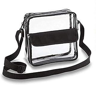 Clear Crossbody Messenger Shoulder Bag with Adjustable Strap NFL Stadium Approved Transparent Purse