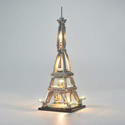Set di Luci per Architettura La Torre Eiffel Modello da Costruire, Kit di Illuminazione a LED Compatibile con Il Modello Lego 21019 (Non includere Il Set di Lego)