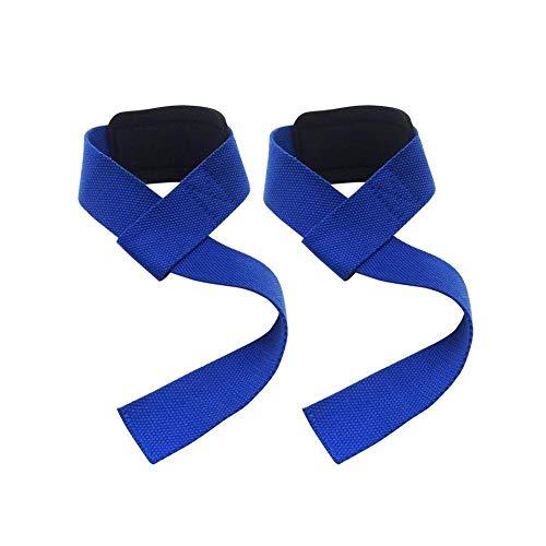 RickyWong Fitness Pull Levantamiento de la Correa de la Pulsera Anti-resbaladiza Grip Levantamiento Correas para el Entrenamiento del Equipo de Levantamiento de Poder (Color : Blue)