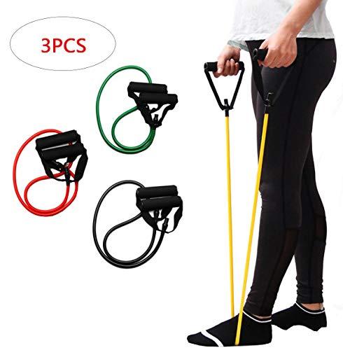Biluer 3PCS Resistenza Band Pull-up Bande Elastiche Maniglie Elastici Fitness Elastico Adatto per Yoga di Riabilitazione Muscolare Allenamento(15 Libbre Verdi 20 Libbre Rosse30 Libbre Nere)