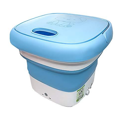 Mini Lavadora Plegable con Mango ABS/TPR El Inicio con un Solo BotóN se Encuentra con la IngenieríA del Cuerpo Humano Azul