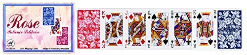 Piatnik 202339 Rosen Patience Solitaire, 2 x 55 Karten