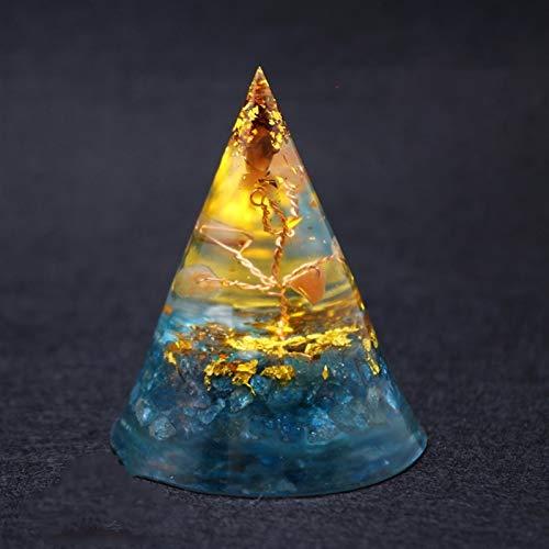 ACEACE Orgonite Pyramide Orgone Spirituelle natürliche Energie Kristallquarz Schmuck Reiki Chakra Steine (Gem Color : Apatite)
