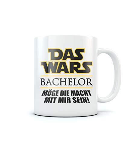 Uni - Das Wars - BACHELOR - Geschenk zum Abschluss Kaffeetasse Tee Tasse Becher 11 Oz. Weiß