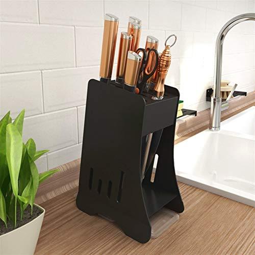 Porte-Couteaux Vide Couteau de cuisine moderne Bloc rack Couteaux Support de rangement, Couteau multifonctions Organisateur, Noir Blocs couteaux