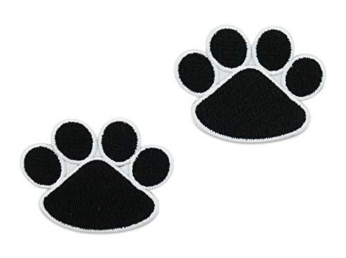 Finally Home Schwarze Hundepfoten Patches zum Aufbügeln | Hunde Pfote Patch, Bügelflicken, Flicken, Aufnäher