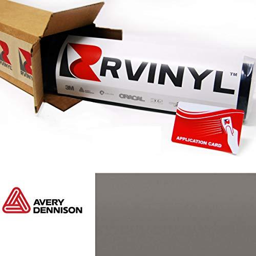 "Avery SW900 856-O Matte Dark Gray Supreme Wrapping Film Vinyl Vehicle Car Wrap Sheet Roll - (12"" x 60"" w/Application Card)"