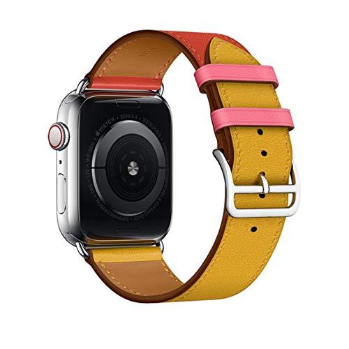 Bucle de cuero para Apple Watch Band 6 SE Band 40 mm 44 mm Correa de pulsera para iWatch 5 4 3 2 1 Tour único 38 mm 42 mm