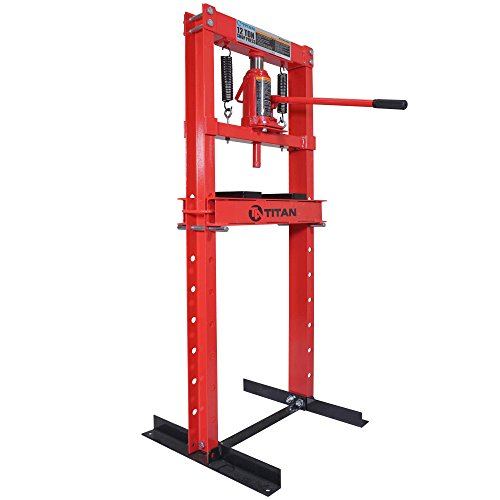Titan 12 Ton Hydraulic Shop Floor Press H Frame 24000 lb w/ Heavy Duty Steel Plates