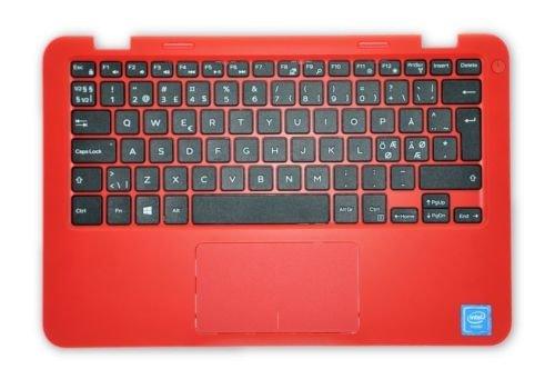 Dell Inspiron 11 3000 Series (3162) Handauflage mit N-EEUR Tastatur 7754Y VMWH1 Rot