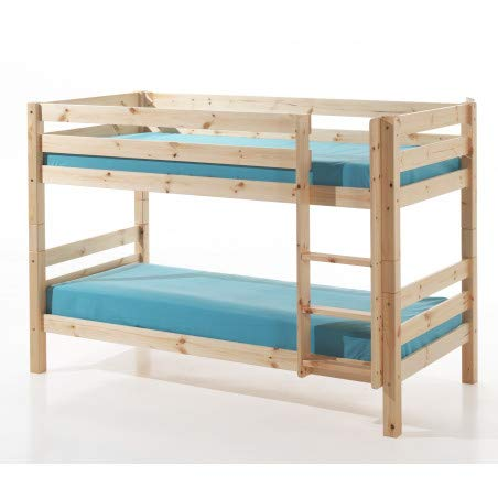 Alfred & Compagnie stapelbed 90 x 200 cm, grenen hoog 140 Armance & Faustin natuur