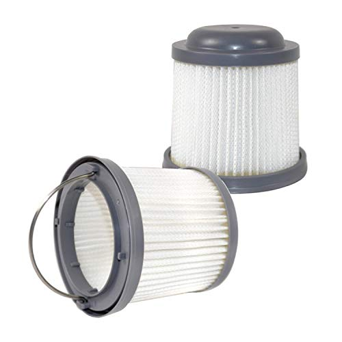 HQRP 2-Pack Washable Filter Compatible with Black & Decker BDH2000PL, BDH1600PL, BDH2020FLFH, BDH1620FLFH, BDH2020FL Flex Lithium Pivot Vac Vacuums