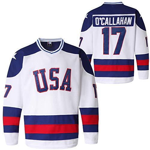 MOLPE Youth USA Ice Hockey Jersey (17-White, M)
