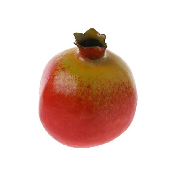 Realistic Lifelike Simulation Artificial Pomegranate Decorative Plastic Fake Fruit Display Food Decor Home Display Decoration Home Party Kitchen Festival Decor Photography Bowl Prop Food Ornaments