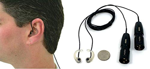 MS-TFB-2-MOG-XLR - Sound Professionals Ultra-Low Noise In-Ear Binaural microphones with XLR connectors for devices with phantom power.